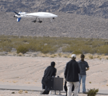 Dave Maxwell The Sandstorm drone being demonstrated recently at the Alamo Airport by Unmanned Aerial Systems Inc, a company with an outpost in Henderson. Owner Don Bintz said he plans to use Alamo as a center in Nevada for research, development and training for drones.
