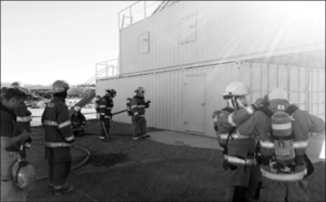 Courtesy photo A live fire training exercise at the facility in Panaca last Saturday.