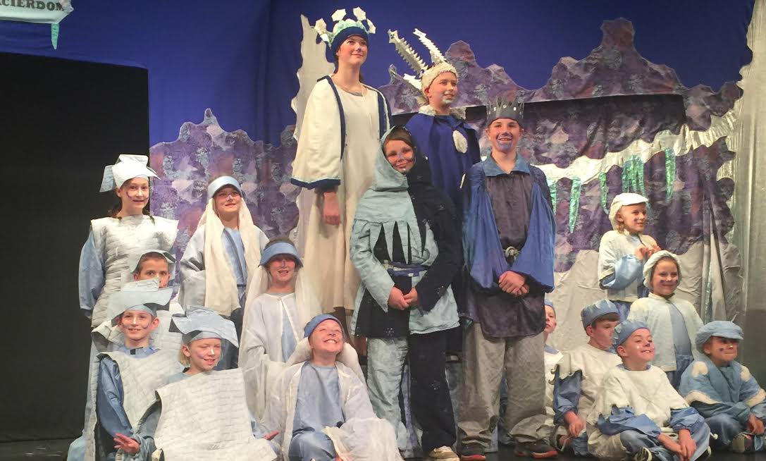 Local students present play