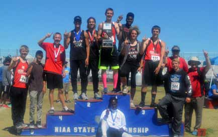 Lincoln boys track wins team wins first state title since 1991