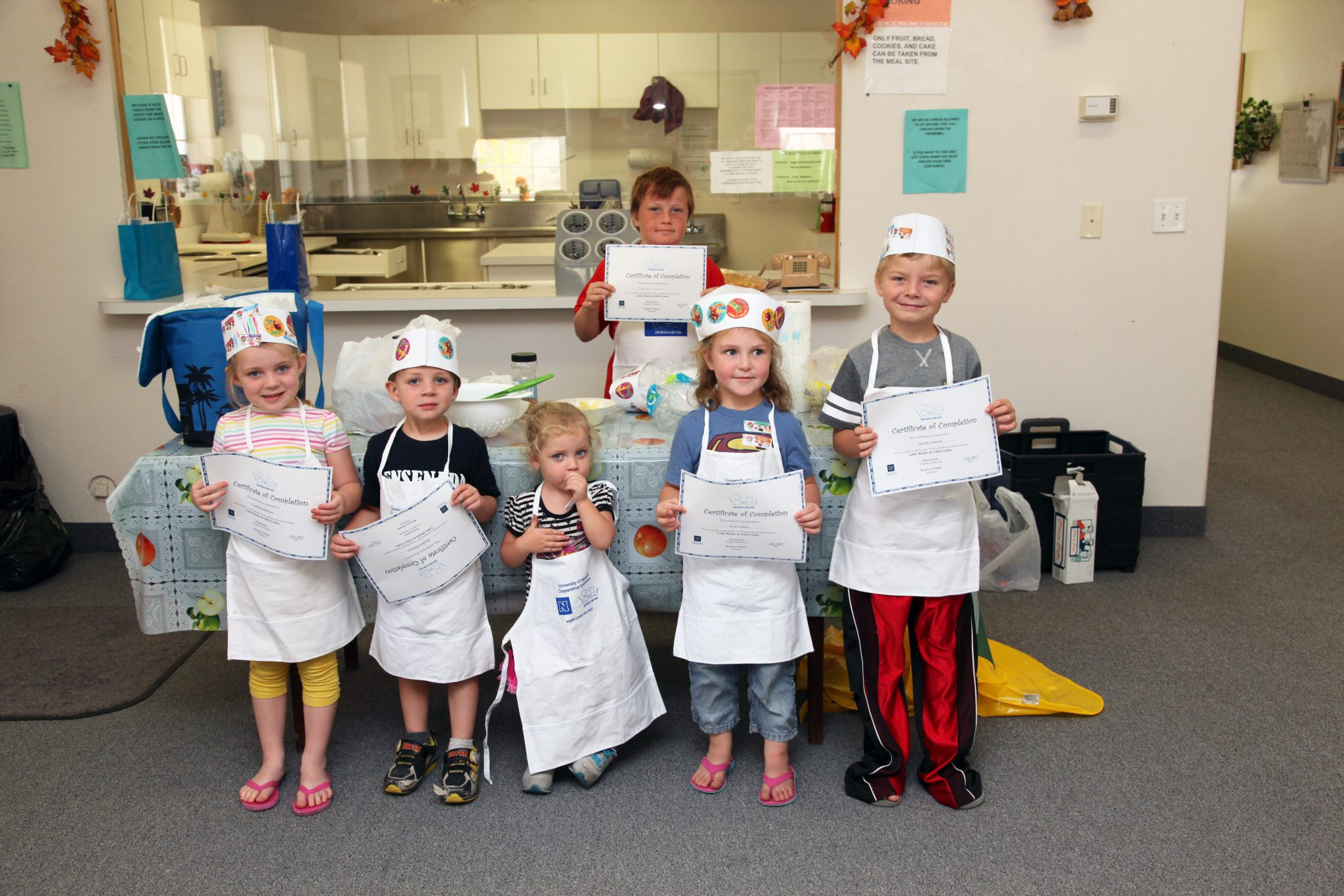 Preschoolers Graduate Cooking Class