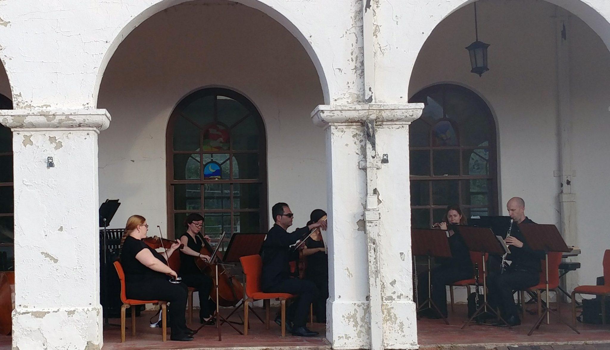 Orchestra Plays at Depot