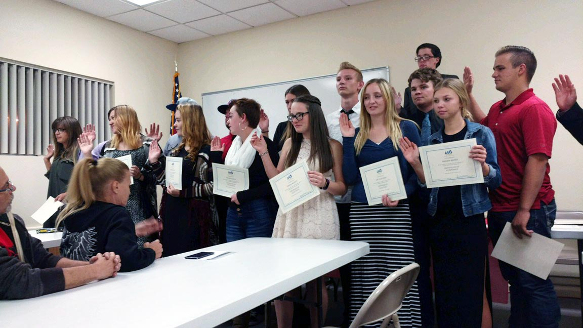 LCHS Students Taking Part in JAG Program
