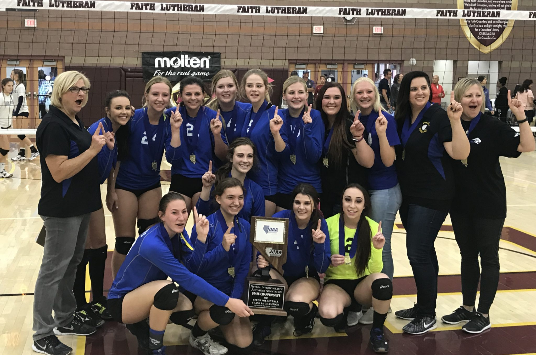 Lady Panthers Defend State Volleyball Title