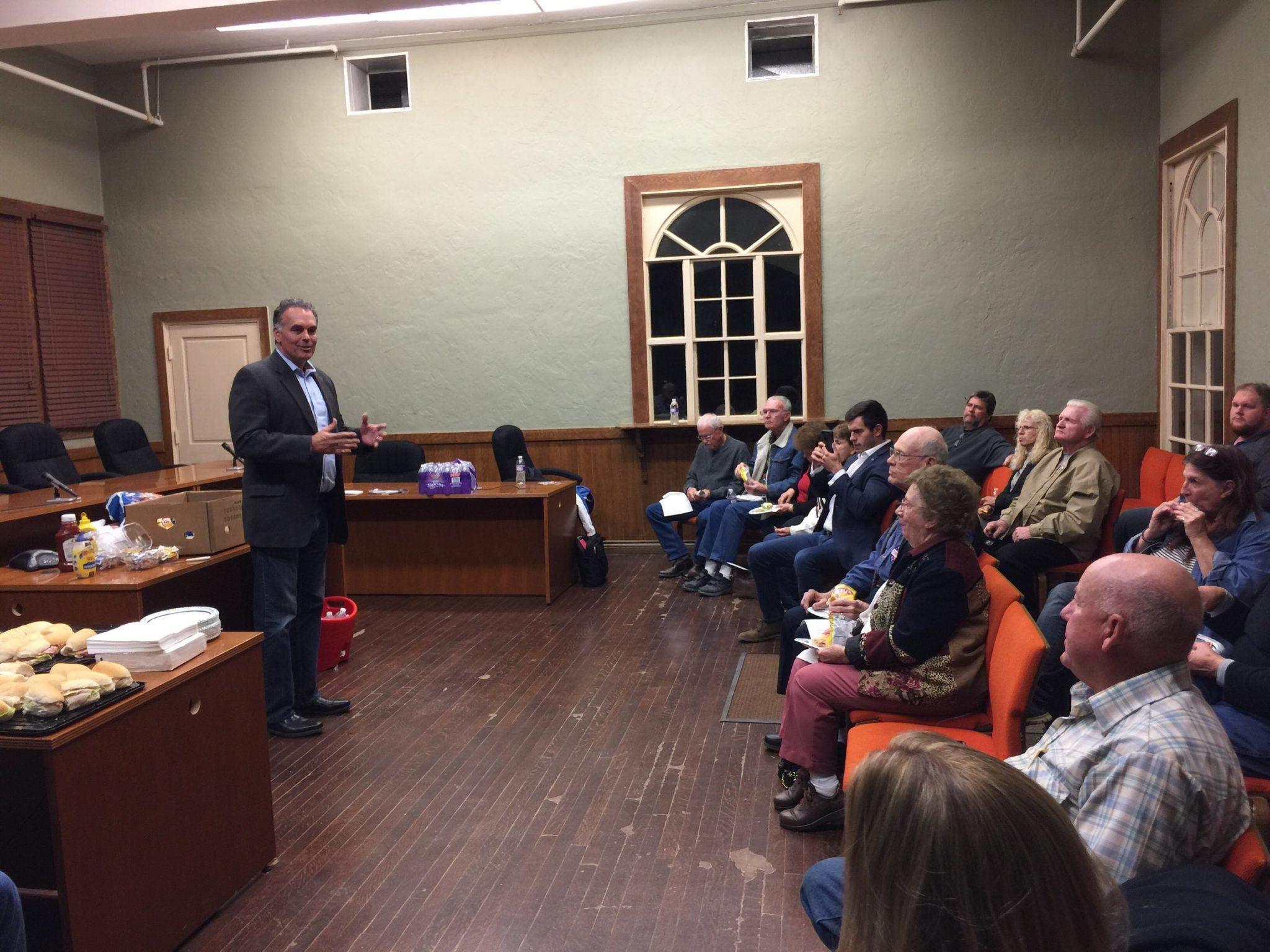 U.S. Senate Candidate Danny Tarkanian Campaigns in Caliente, Alamo