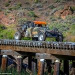 The annual Knotty Pine 250 off-road race includes numerous challenges, such as a bridge with no walls.