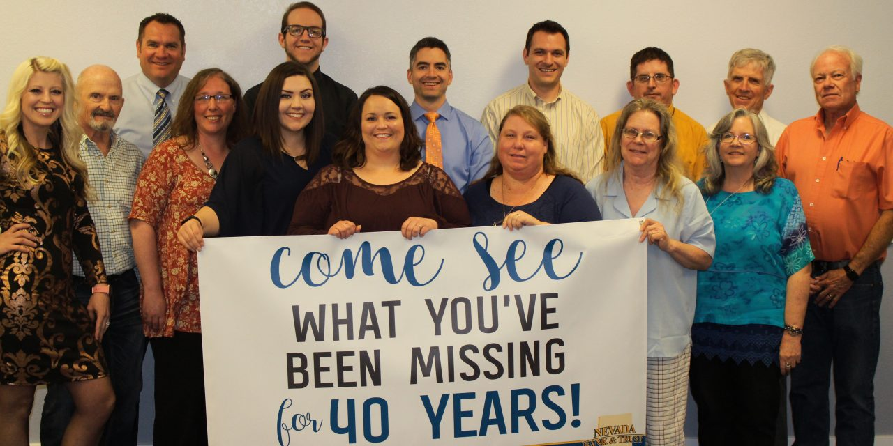 Nevada Bank and Trust Turning 40