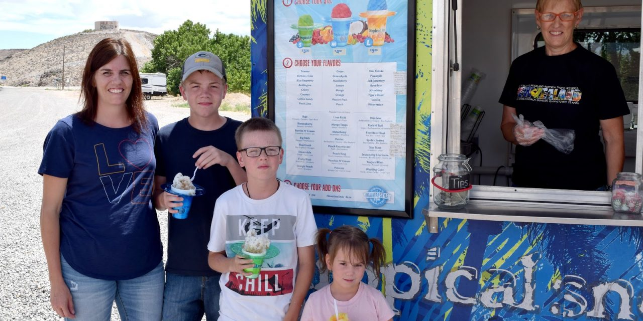 Local Snow Cone Trailer Provides Some Relief to the Summer Heat