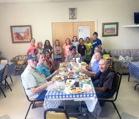 4-H Cooking Club Visits Senior Center