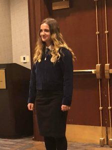 Courtesy photo Shayla Mathews of Lincoln County FFA competed in the National FFA Prepared Public Speaking in Indianapolis.