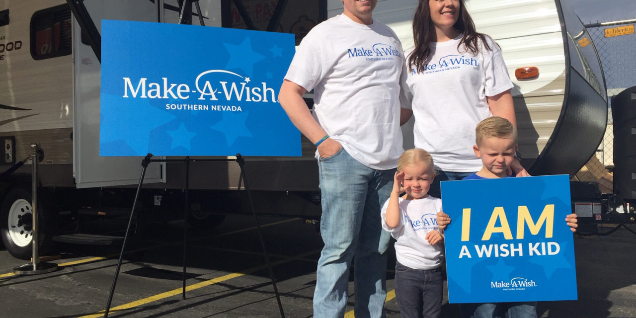 Findlay Rv, Make-A-Wish Provide Travel Trailer to Alamo Family
