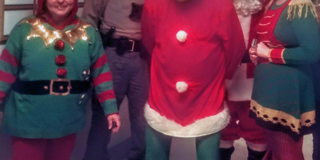 Santa visits hospital; Grinch arrested