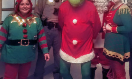 Santa visits hospital; Grinch arrested