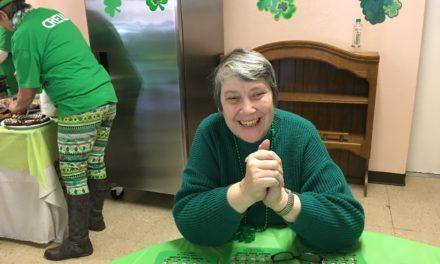 St. Patty's fun at senior center