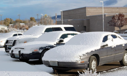 Round of snow blankets county