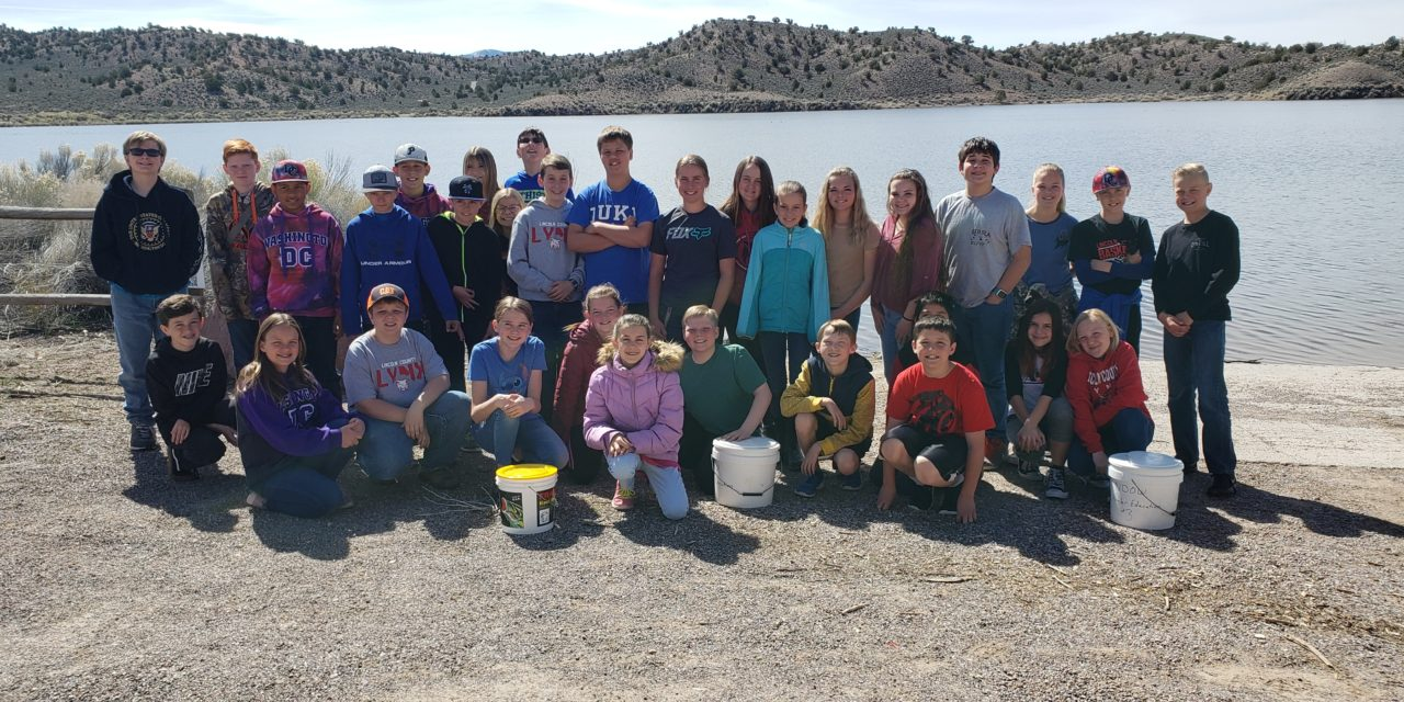 Sixth grade students raise trout for reservoir