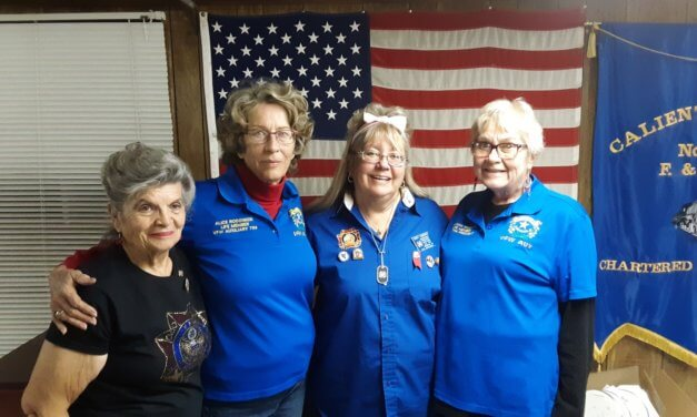 Auxiliary president visits Caliente post