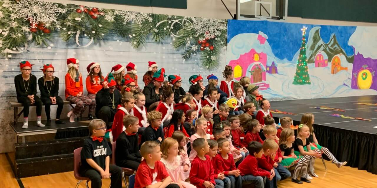Pioche students put on Christmas program