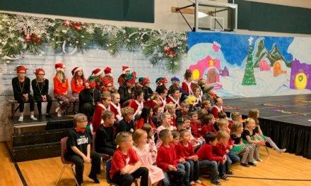 Pioche students put on Christmas program