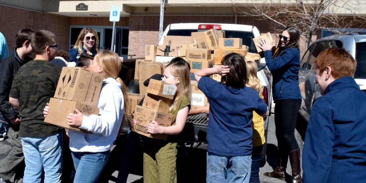 Girl Scouts Donate Educational Materials in Pahranagat Valley