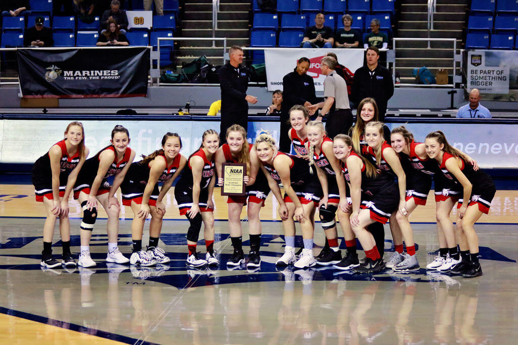 Morgan Stackhouse  Prior to their state semifinals game in Reno, the Lincoln County High School girls basketball team was awarded the 2019-2020 2A academic state championship.